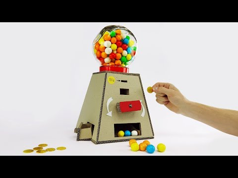Thumbnail: DIY Gumball Machine Money Operated from Cardboard at Home