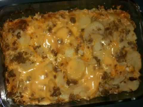 How To Make A Cheesy Potato Casserole With Ground Beef