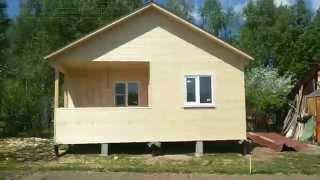 видео Дачный дом из бруса 5х6