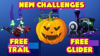 HOW TO UNLOCK HALLOWEEN GLIDER AND TRAIL FOR FREE - FORTNITEMARES CHALLENGES