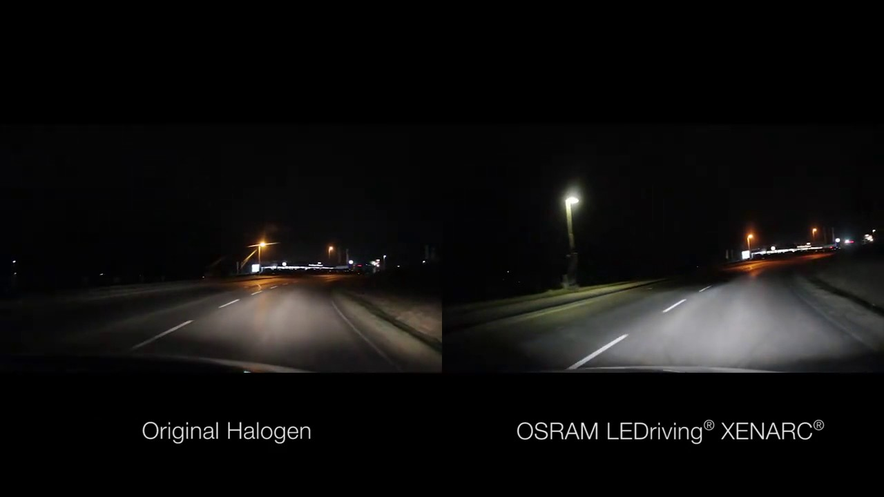 original oem halogen headlight vs osram ledriving xenarc. Black Bedroom Furniture Sets. Home Design Ideas