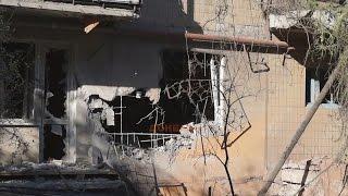 Сильнейший обстрел Горловки (4:20 утра) / Shelling and destruction in Gorlovka. 13.06.15