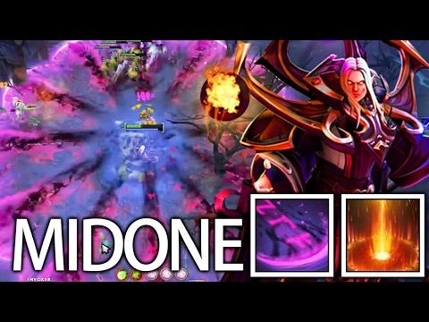 9k MMR Pro Dark Invoker AOE Blast by MidOne of Team Secret