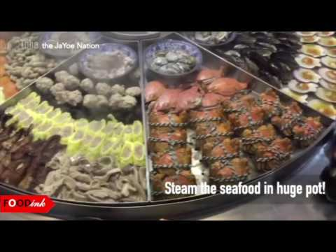 The Giant Seafood Steam-Table at Ningbo, China