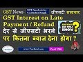GST Interest on Delayed Payment / Refund : GST News 296