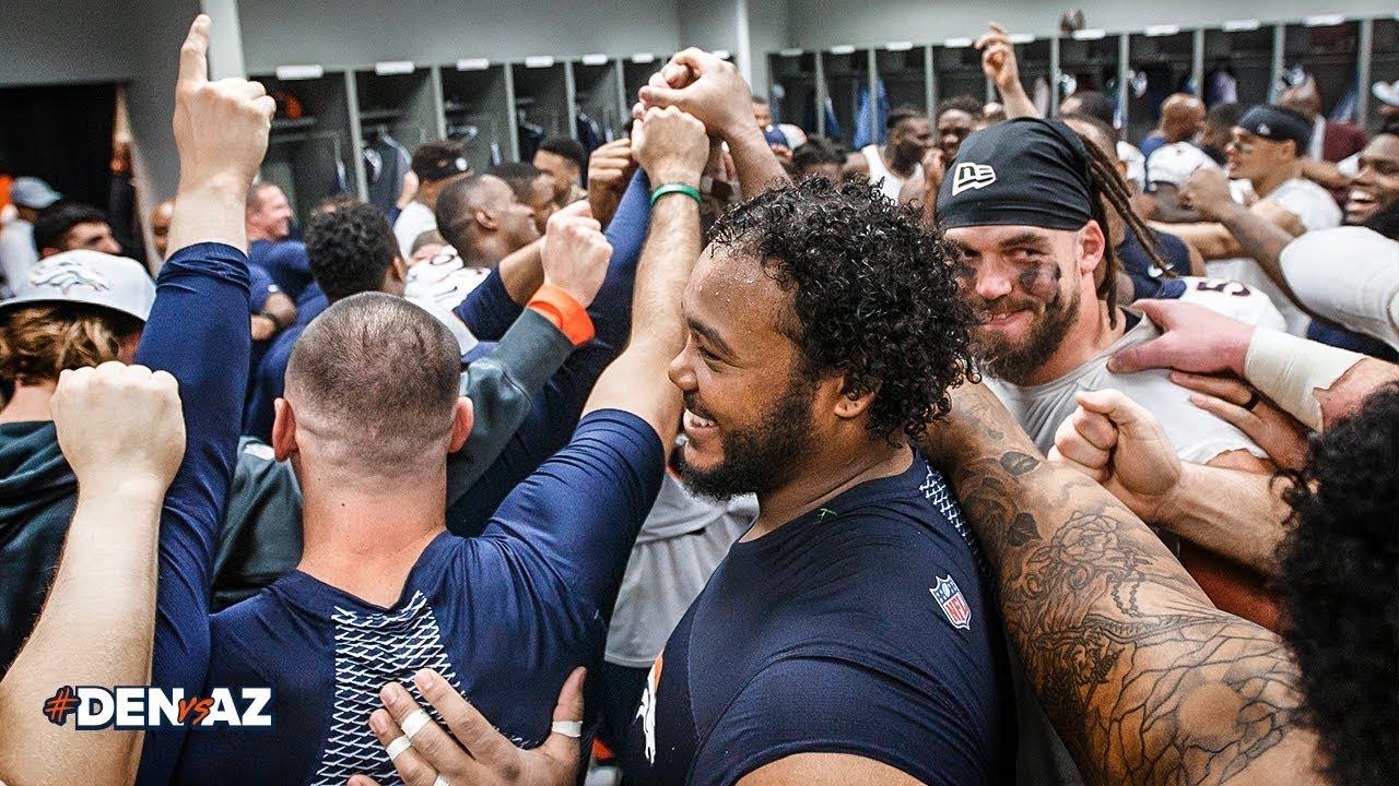 Victory Speech: Inside the Broncos' winning locker room after #DENvsAZ