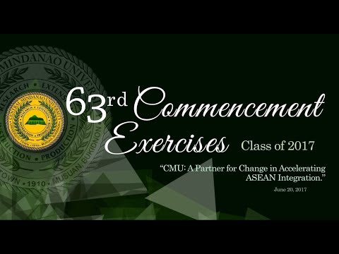 LIVE-STREAM: CMU 63rd Commencement Exercises (2nd Batch)