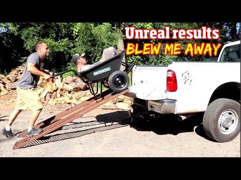 I Tested 2 Landscaping Tools That They Blew Me Away- Pickup Up Unloader & Powered Wheel Barrow