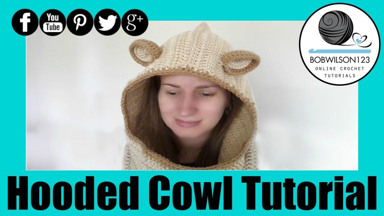 Crochet Hooded Cowl Tutorial - YouTube