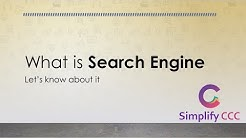 What is Search Engine? सर्च इंजन क्या होता है ? Simplify CCC What is... Series