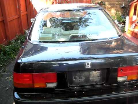 1992 Honda Accord EXAVI  YouTube