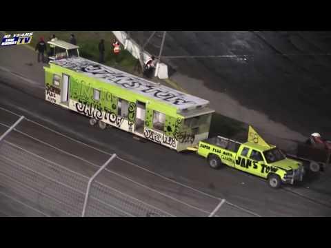 Trailer Race - Irwindale Speedway Night of Destruction 12-3-16