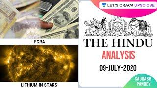 09-July-2020 | The Hindu Newspaper Analysis | Current Affairs for UPSC CSE/IAS | Saurabh Pandey