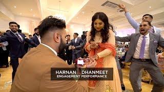 Harnan & Dhanmeet | Epic Engagement Bhangra Performance #PML