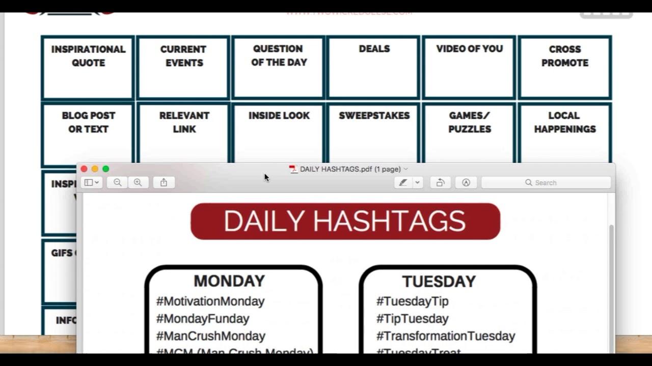 social media posting calendar
