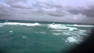 Fishing Boat Leaves Boynton Inlet Into The Surf