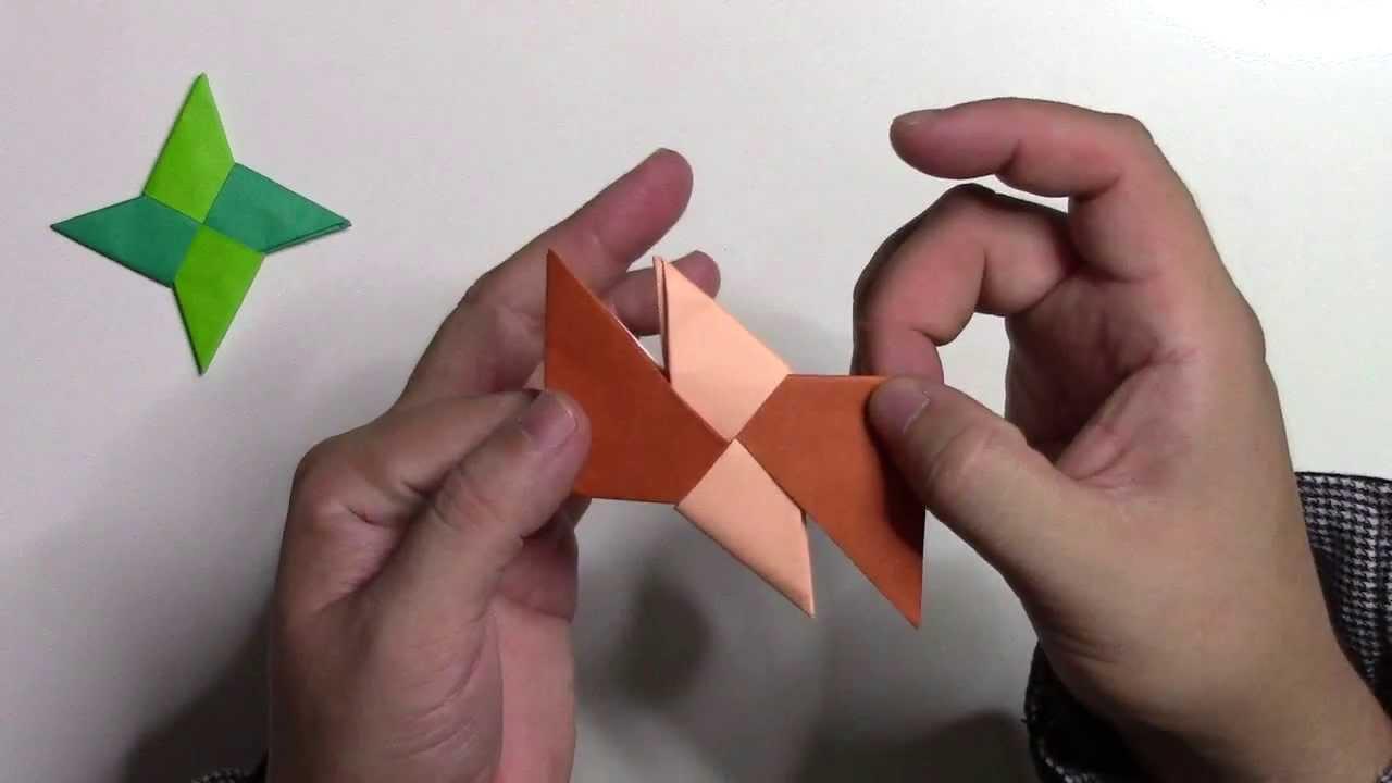 【折り紙 折り方】簡単な手裏剣(しゅりけん)の作り方動畫 - YouTube