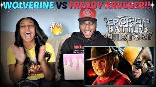 "Epic Rap Battles of History ""Freddy Krueger vs Wolverine"" REACTION!!!"