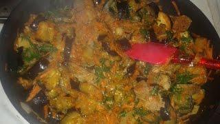 Вкусные баклажаны с мясом (рагу)Рецепт.