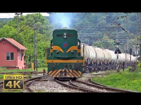 Rail traffic in Serbia - Topčider 2016. - Železnički saobraćaj u Srbiji [4K]
