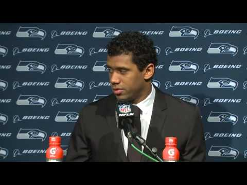 Seahawks Quarterback Russell Wilson Postgame Press Conference at Patriots