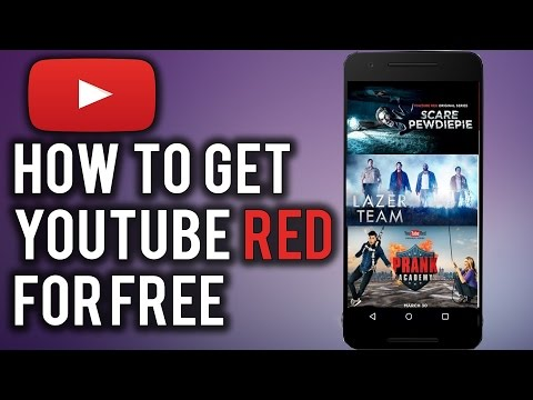HOW TO GET YOUTUBE RED FOR FREE!!!!