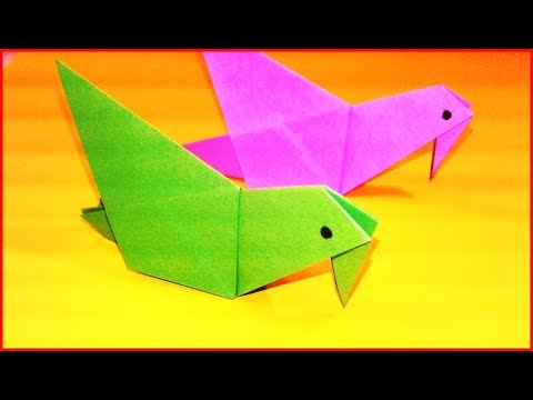 How to Make a Simple Paper Dove (Symbol of Peace) - Easy Tutorials #23