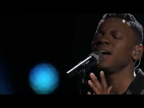 Everybody Hurts sung by Chris Blue and Usher
