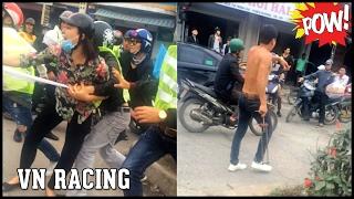 Nhóm Phượt Thủ EXCITER 150 dừng xe nẹt pô đánh nhau rồi bỏ chạy