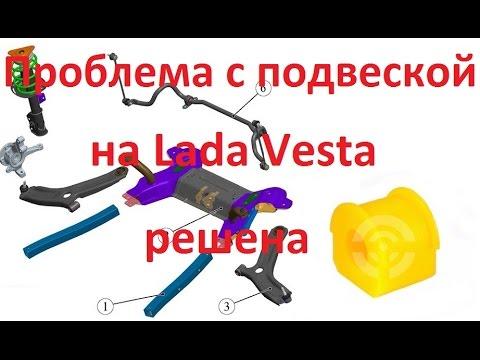 На Ладе Веста скрип передней подвески побеждён!!!