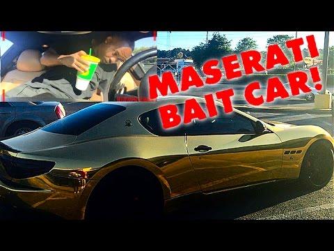"Gold Maserati ""BAIT CAR"" Hood Edition (Social Experiment)"