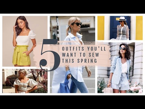 5 Spring 2021 Trends     Sewing Patterns and Fabric Combos