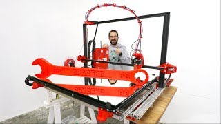 GIANT 3D PRINTER FROM SCRATCH  IT WORKS!