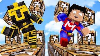 Carrera De Lucky Blocks De Mesa De Crafteo En Minecraft 😱