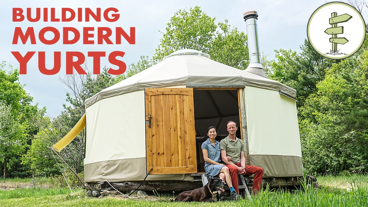 Couple building modern yurt as super portable tiny home youtube solutioingenieria Image collections