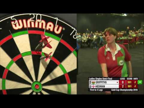 Darts Ladies Gold Cup 2016 Semi Final Hedman vs Griffiths