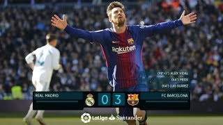 Real Madrid vs Barcelona 0-3 All Goals and Skills HD
