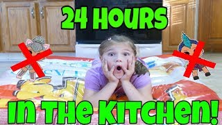 24 Hours Overnight In The Kitchen! 24 Hour Challenge With No LOL Dolls and No Toys