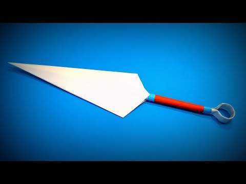 Origami Kunai Knife | How to Make a Paper Kunai Knife Ninja Weapons | Easy Origami ART Paper Crafts
