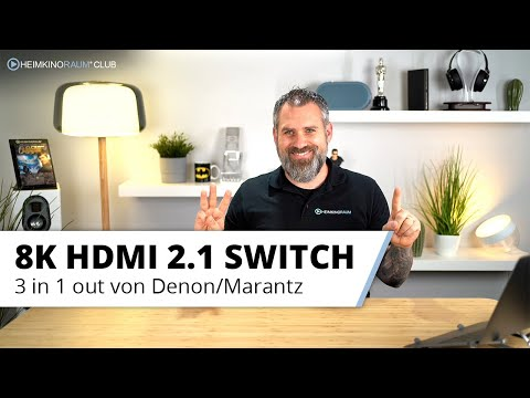 Universeller 8K HDMI Switch mit drei Eingängen von Denon/Marantz