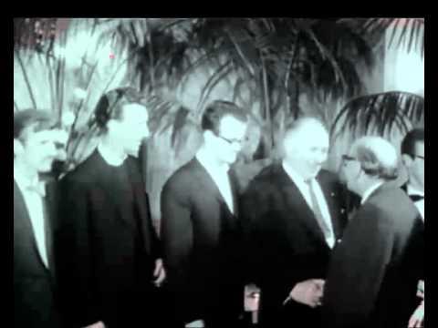 Professor Debye huldigt jonge wetenschappers, Maastricht 1962