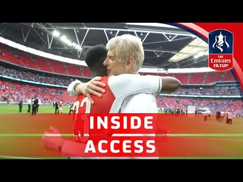 Arsenal celebrate winning the 2017 Emirates FA Cup | Inside Access
