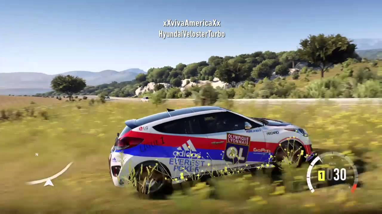 forza horizon 2 3 voitures de olympique lyonnais youtube. Black Bedroom Furniture Sets. Home Design Ideas