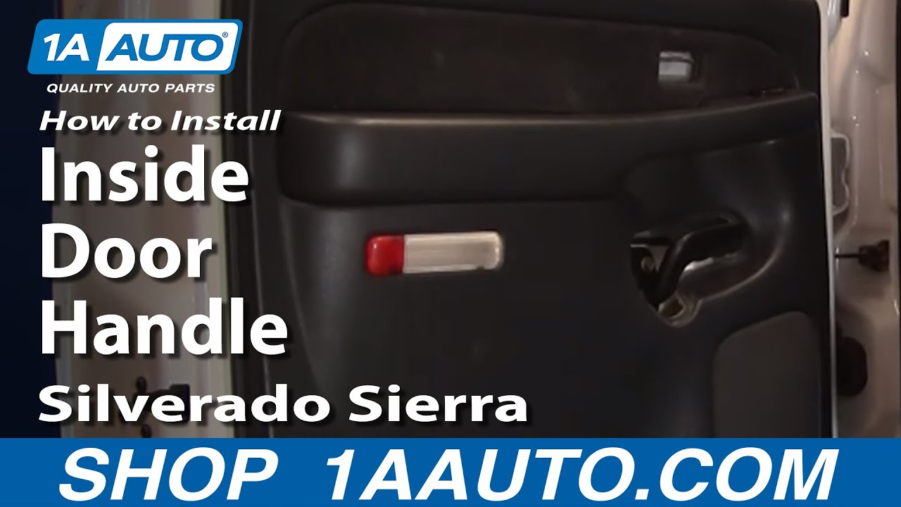 How To Install Replace Silverado Sierra Crew Cab Rear Inside 2004 Chevy Window Wiring Door Handle 99 02 1aautocom