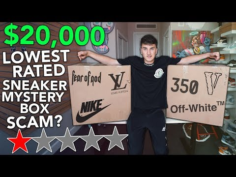 Unboxing A $20,000.00 Lowest Rated Sneaker Mystery Box....