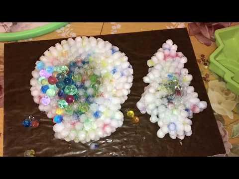 Frozen orbeez balls experiment