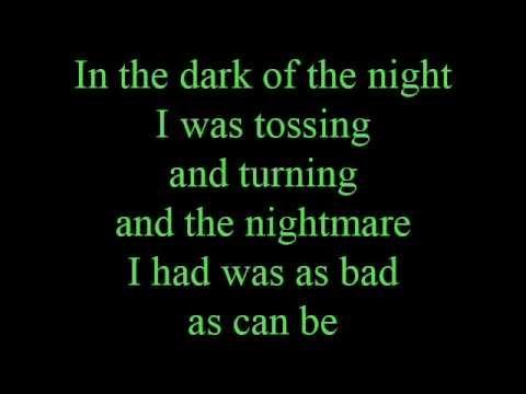 In the dark of the night - lyrics