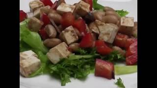 Салат с сыром фета и фасолью
