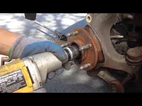 How to change / replace wheel bearings from SUV guide manual