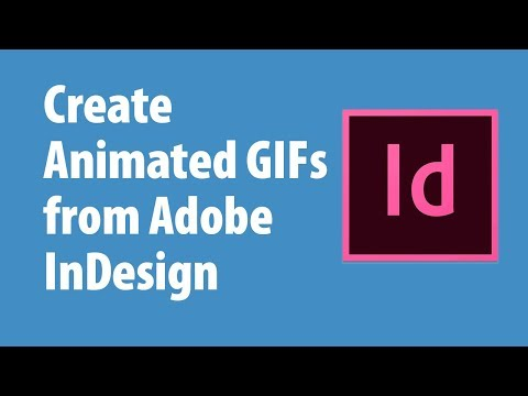 How To Create An Animated GIF From Adobe InDesign Using In5
